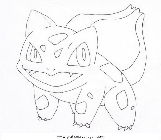 Pokemon Bisasam Gratis Malvorlage In Comic Trickfilmfiguren
