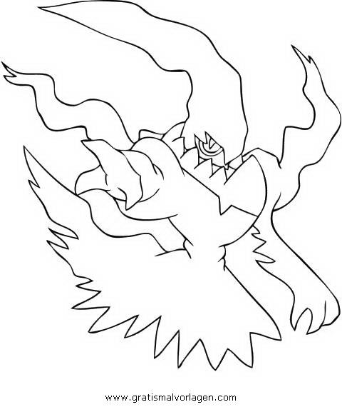 Pokemon Lugia2 Gratis Malvorlage In Comic: Pokemon Darkrai 5 Gratis Malvorlage In Comic