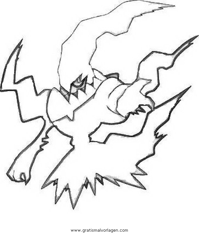 Pokemon Coloring Pages Darkrai