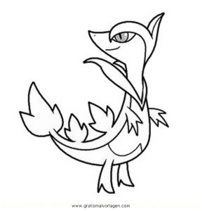 Pokemon Efoserp Servine Gratis Malvorlage In Comic