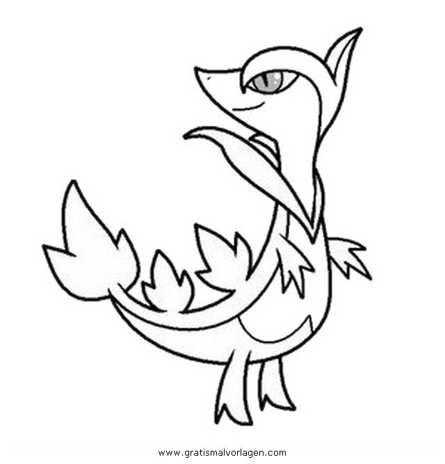 Pokemon Lugia2 Gratis Malvorlage In Comic: Pokemon Efoserp Servine Gratis Malvorlage In Comic