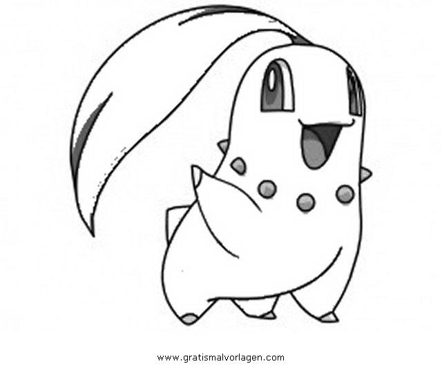 Pokemon Endivie Gratis Malvorlage In Comic Trickfilmfiguren