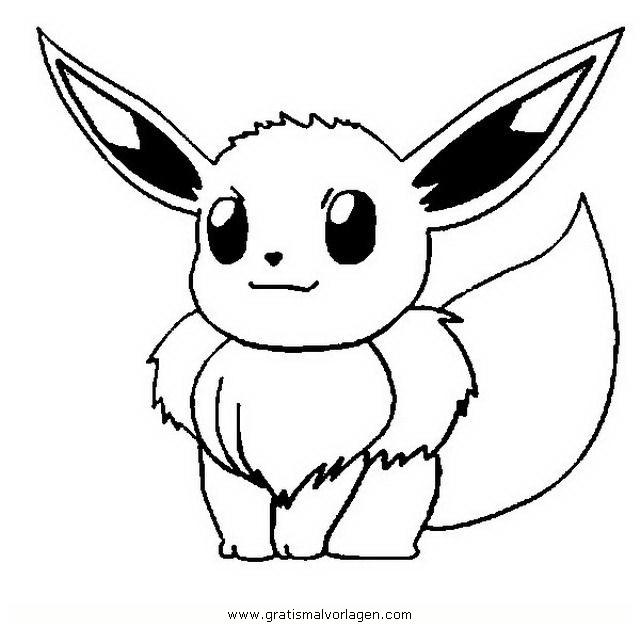 pokemon evoli gratis malvorlage in comic
