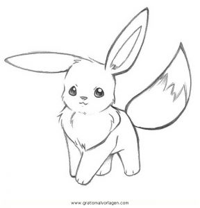 pokemon evoli 2 gratis malvorlage in comic  trickfilmfiguren, pokemon - ausmalen