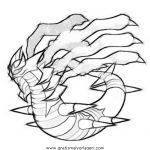 Pokemon Serpifeu 1 Gratis Malvorlage In Comic Trickfilmfiguren