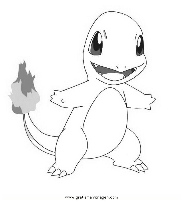 pokemon glumanda2 gratis malvorlage in comic