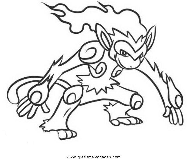 Pokemon Infernape Panferno 1 Gratis Malvorlage In Comic