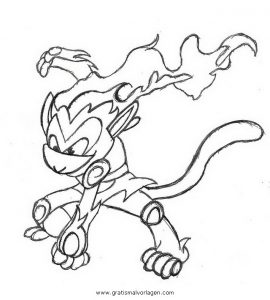 Pokemon Infernape Panferno 2 Gratis Malvorlage In Comic