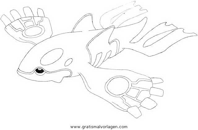 Pokemon Lugia2 Gratis Malvorlage In Comic: Pokemon Kyogre Gratis Malvorlage In Comic