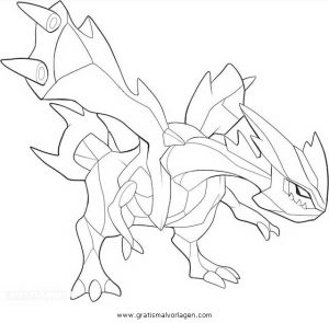 Pokemon Kyurem 1 Gratis Malvorlage In Comic Trickfilmfiguren