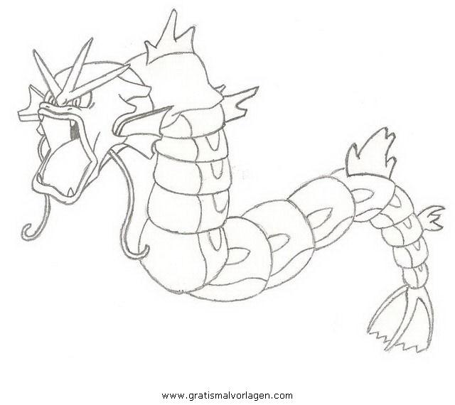 Pokemon Lugia2 Gratis Malvorlage In Comic: Pokemon Leviator Gyarados Garados 2 Gratis Malvorlage In