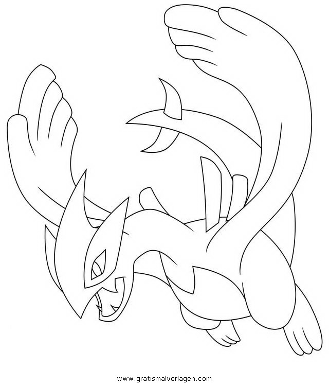 Pokemon Lugia Gratis Malvorlage In Comic