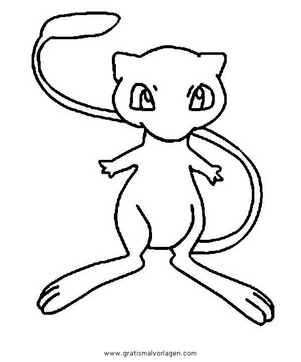 pokemon mew 1 gratis malvorlage in comic