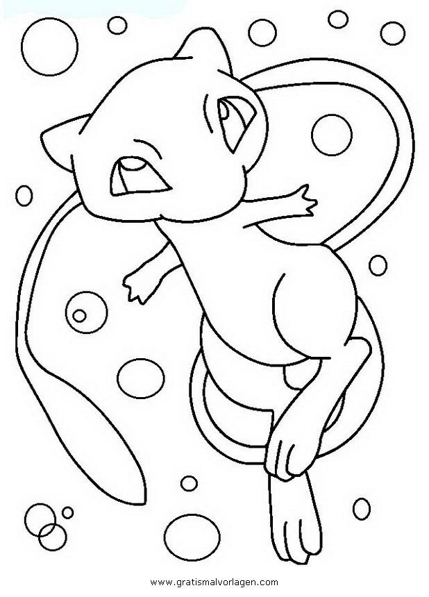 Pokemon Mew 3 Gratis Malvorlage In Comic