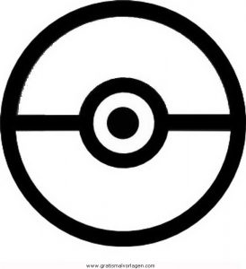pokemon pokeball gratis Malvorlage in Comic & Trickfilmfiguren