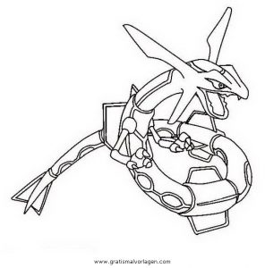 pokemon rayquaza 2 gratis Malvorlage in Comic & Trickfilmfiguren