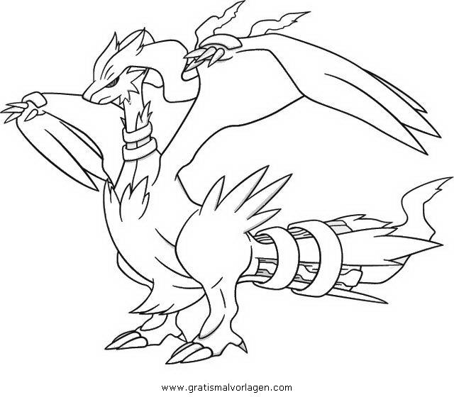 pokemon reshiram 1 gratis Malvorlage