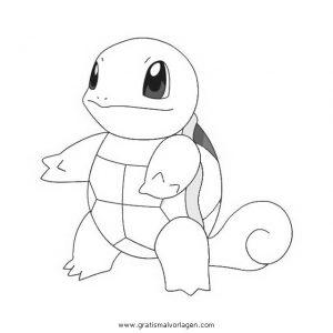 Pokemon Schiggy Gratis Malvorlage In Comic Trickfilmfiguren