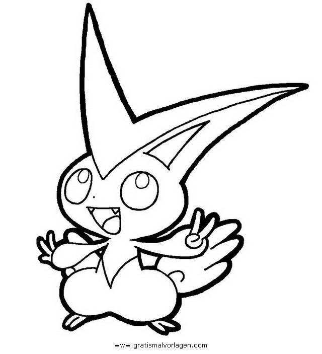 Pokemon Victini Gratis Malvorlage In Comic