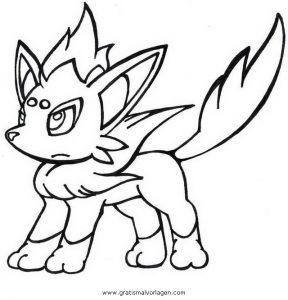 Malvorlage Pokemon pokemon zorua 1