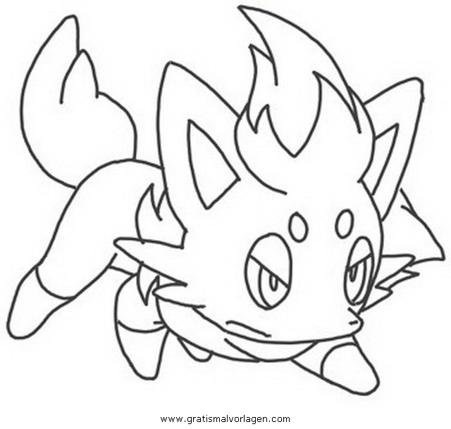 Pokemon Zorua 2 Gratis Malvorlage In Comic Trickfilmfiguren