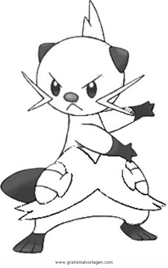 pokemon zwottronin gratis malvorlage in comic