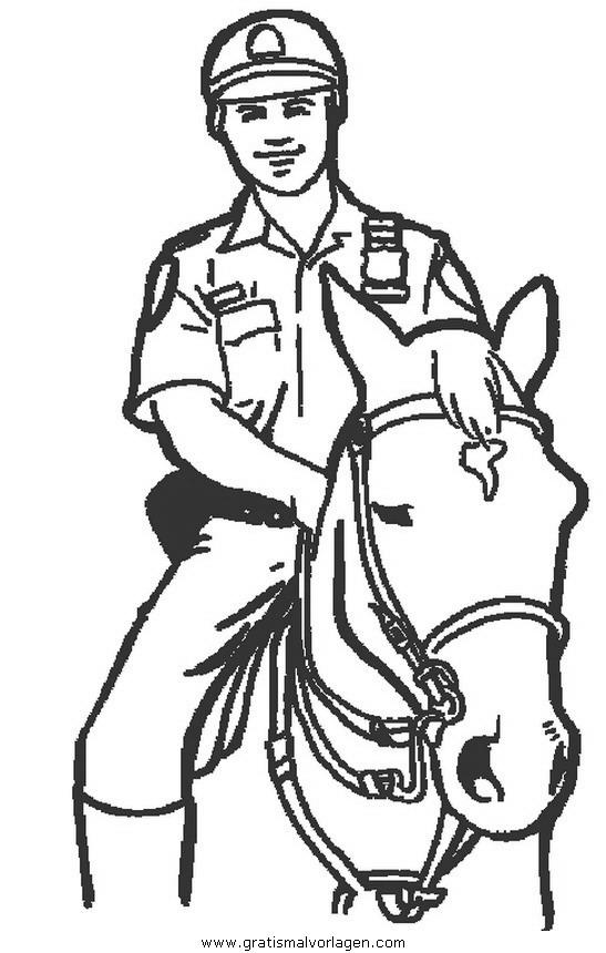 Polizei 02 Gratis Malvorlage In Menschen Polizei Ausmalen