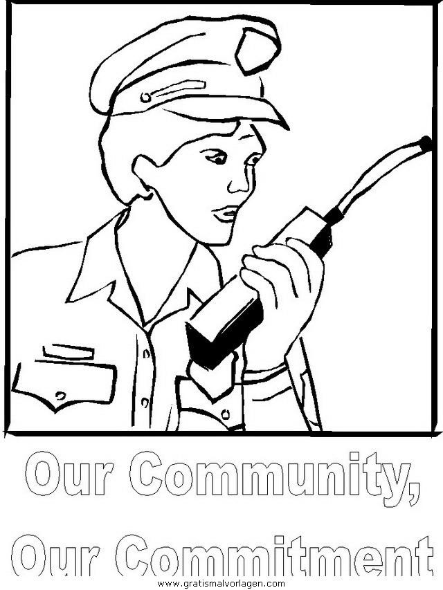 polizei 04 gratis malvorlage in menschen polizei  ausmalen