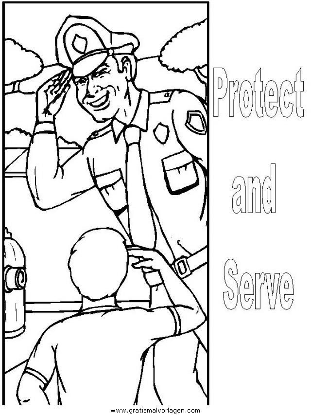 polizei 06 gratis malvorlage in menschen polizei  ausmalen