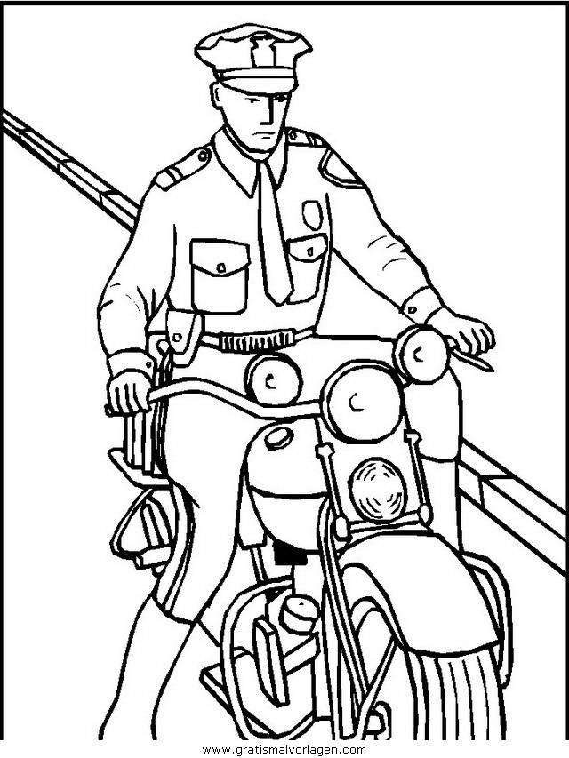 polizei 07 gratis Malvorlage in Menschen, Polizei - ausmalen