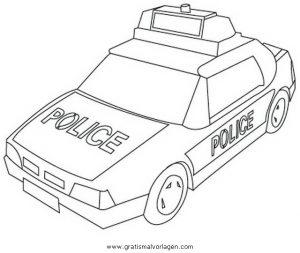 polizeiauto 3 gratis malvorlage in autos, transportmittel - ausmalen