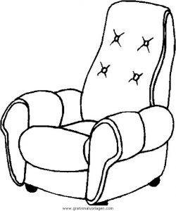 Sessel comic  Sessel 05 gratis Malvorlage in Diverse Malvorlagen, Möbel - ausmalen