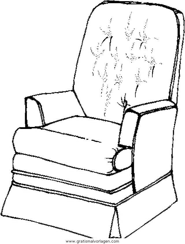 sessel 12 gratis malvorlage in diverse malvorlagen möbel