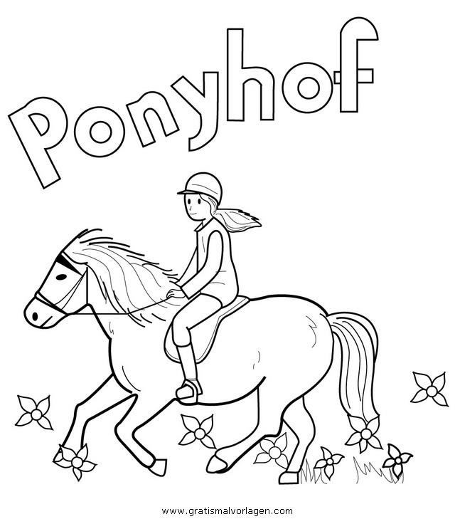 ponyhof liliengrun gratis Malvorlage in Beliebt07, Diverse ...