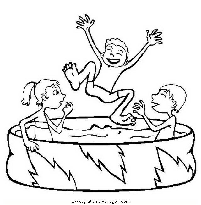 Ausmalbilder Pool