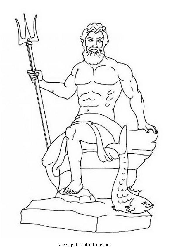 Wunderbar Poseidon Malvorlagen Zeitgenössisch - Beispiel ...