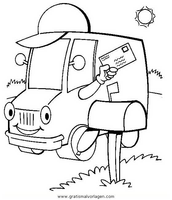 postauto gratis malvorlage in lastwagen  transportmittel