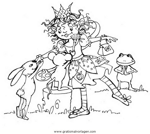 Prinzessin Lillifee Malvorlagen zum Ausmalen für Kinder -