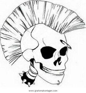 Punker 2 Gratis Malvorlage In Beliebt04 Diverse Malvorlagen Ausmalen