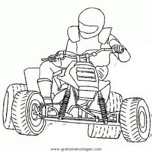 Quoad Quad 02 Gratis Malvorlage In Motorrad Transportmittel Ausmalen