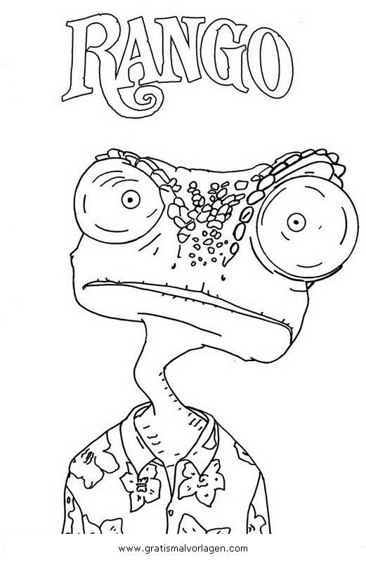 Sendung Maus 09 Gratis Malvorlage In Comic: Rango 09 Gratis Malvorlage In Comic & Trickfilmfiguren