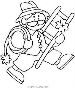 Malvorlage Berufe Handwerk rauchfangkehrer 4