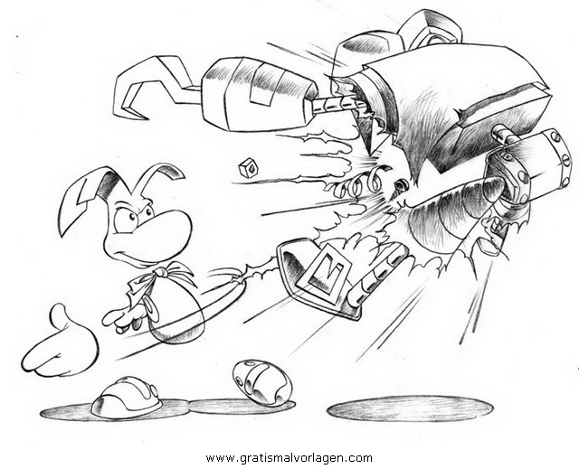 Rayman 11 Gratis Malvorlage In Comic Trickfilmfiguren: Rayman 11 Gratis Malvorlage In Comic & Trickfilmfiguren