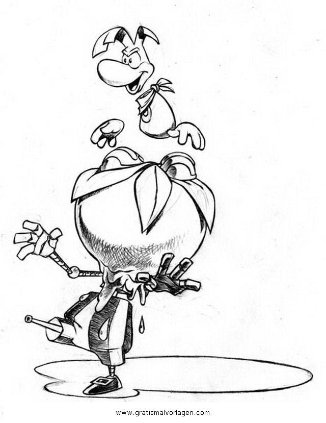 Rayman 15 Gratis Malvorlage In Comic Amp Trickfilmfiguren