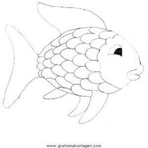 Regenbogenfisch Gratis Malvorlage In Fische Tiere Ausmalen