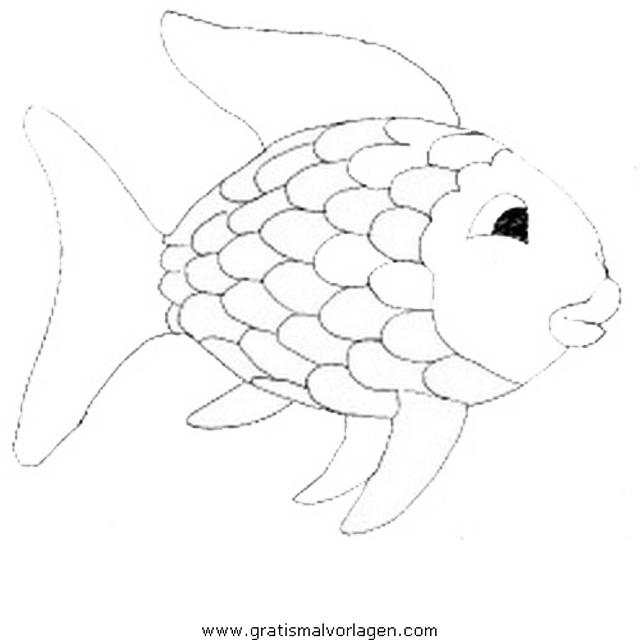 Regenbogenfisch Gratis Malvorlage In Fische, Tiere - Ausmalen