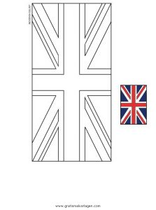 Vereinigtes Königreich England 2 Gratis Malvorlage In Flaggen