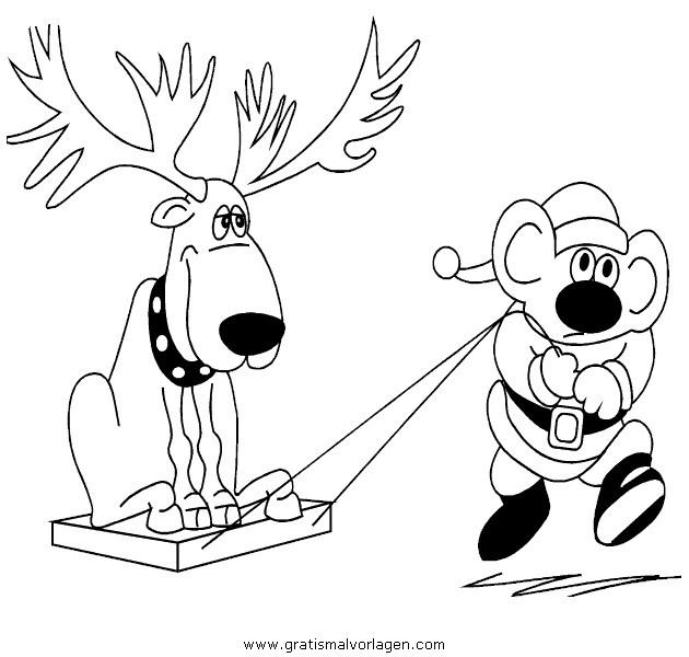 rentier 25 gratis malvorlage in rentier weihnachten