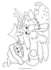 Rentier 33 Gratis Malvorlage In Rentier Weihnachten Ausmalen