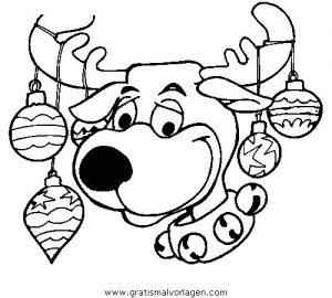 rentier 56 gratis malvorlage in rentier, weihnachten